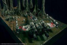 Dagobah Diorama: Crashed X-Wing Recreated in Stunning Detail