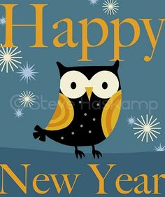 Happy New Year owl for GOOD LUCK!  #feelbeautiful #whbm