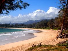 View of Malaekahana Beach from one of the campground's beach access points. Photo: Bianca Sewake