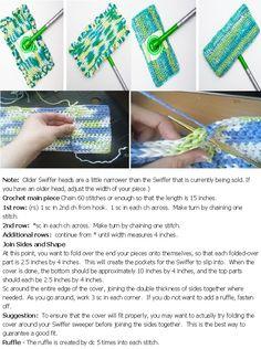 crochet swiffer cover pattern