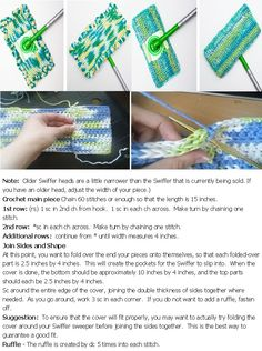 crochet swiffer cover pattern