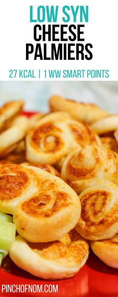 Cheese Palmiers - Pinch Of Nom Slimming World Taster Ideas, Slimming World Treats, Slimming World Breakfast, Slimming World Diet, Slimming Eats, Slimming World Recipes, Slimming Workd, Slimming World Cookies, Healthy Appetizers