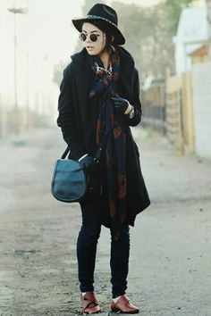 In love with this winter look by #GaloreBeneathTheStars #BloggerCrush #Forever21