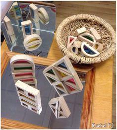 """A mirror, the mirror box & colour blocks - from Rachel ("""",)"""