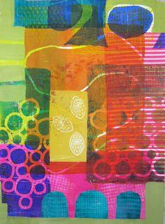 collage journeys: Monoprint Collage At Pacific Northwest Art School