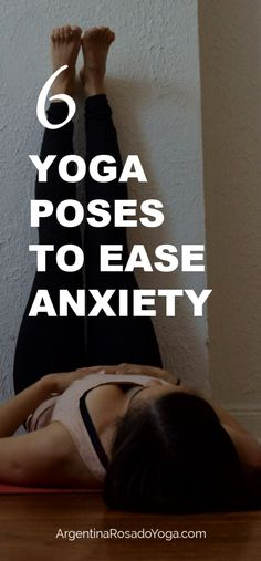 Yoga Poses For Anxiety Relief 6 yoga poses for anxiety and stress relief. The poses are restorative and great for yoga poses for anxiety and stress relief. The poses are restorative and great for beginners. Anxiety Tips, Anxiety Help, Stress And Anxiety, Anxiety Cure, Calming Anxiety, Health Anxiety, Anxiety Quotes, Mental Health, Yoga Meditation