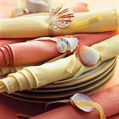 Use Dremel to drill a small hole and thread ribbon, raffia, or hemp through to make napkin rings.