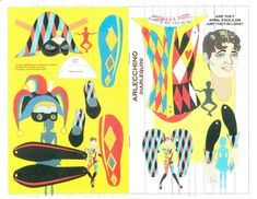 2006 L.A. Spring Fling menu, featuring jointed paper dolls by Kwei-lin Lum. 1 of 2