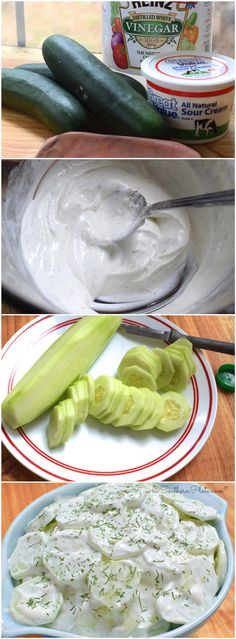 Creamy Cucumbers & Crazy Friends - this is one of those recipes that you just can't stop eating!    Ingredients   3-4 Cucumbers  1 cup sour ...
