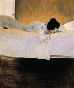 'Laziness' from Ramón Casas (1898-1900 )
