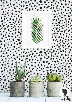 Dalmatian Speckle Pattern Removable Wallpaper L075 by LivettesKIDS