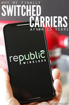 We left Verizon Wireless after 15 years for Republic Wireless & we have no plans on going back! Read this post, make the switch and save! Cell Phone Hacks, Cell Phone Wallet, Cell Phone Plans, Best Money Saving Tips, Saving Money, Money Savers, Republic Wireless, Sprint Cell Phone Deals, Best Cell Phone Coverage