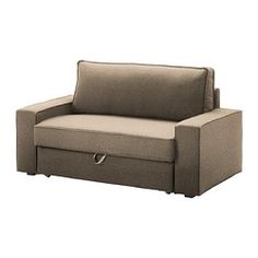 VILASUND Two-seat sofa-bed cover - Dansbo beige, - - IKEA