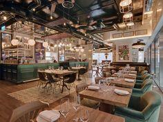 Iberica, Victoria Design Bar Restaurant, Tapas Restaurant, Restaurant Interiors, Bar Design Awards, Tapas Bar, London Restaurants, Cafe Interior, Cafe Design, Design Design