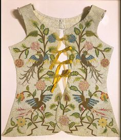 Bodice, Early 18th century. Museum no. 494-1902. © Victoria and Albert Museum, London. Quilting can be traced back at least to the Middle Ages.