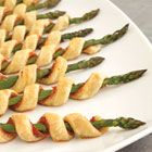 Prosciutto Asparagus Spirals. Perfect for a spring holiday appetizer. Via Campbell's Kitchen and Allrecipes.