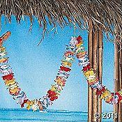 Hawaiin Luau..hut and flower necklaces