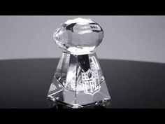 Faceted Crystal Football | edco.com Football Trophies, Faceted Crystal, Light Bulb, Awards, Crystals, Home Decor, Faceted Glass, Decoration Home, Room Decor