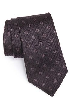 John Varvatos Star USA Woven Silk Tie at Nordstrom.com. A tight medallion grid defines a slim tie cut from pure silk.