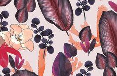 OCEAN Pattern Fashion, Fashion Prints, Textile Design, Pattern Design, Bloom, Ocean, Magic, Wallpaper, Plants