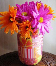 Summer Days Quilt Vase by jjpolcreations on Etsy, $10.00