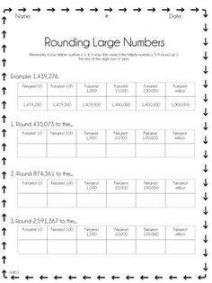 This product is a great way for your students to practice rounding large numbers to any place value.
