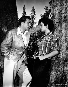 Montgomery Clift and Elizabeth Taylor in 'A Place in the Sun', 1951.
