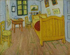 Van Gogh's slaapkamer in St Remy @VanGoghMuseum: lichtblauw, geel, roze, groen, rood, oranje... Deze zomer bezocht.