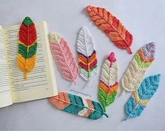 Tutorial feathers of crochet