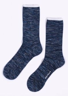 Norse Projects Bjarki Blend Socks - Botanical Blue