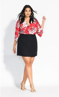 A cheeky sassy length in a chic new fashion style, this one is sure to go straight into your shopping cart. Key Features Include: - Flat waistline with mini chain detail - Mini length hemline - Textured boucle fabrication - Back invisible zip fast Curvy Women Fashion, Plus Size Fashion, Womens Fashion, Plus Size Skirts, Plus Size Outfits, Plus Size Womens Clothing, Clothes For Women, Boucle Jacket, Discount Clothing
