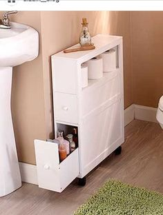 Dekoration Wohnung – Slim Bathroom Storage Cabinet Rolling 2 Drawers Open Shelf Space Saver Slim Bathroom Storage Cabinet Rolling 2 Drawers Open Shelf Space Saver Source by umitalan Bathroom Organisation, Bathrooms Remodel, Bathroom Decor, Home, Trendy Bathroom, Bathroom Design, Slim Bathroom Storage Cabinet, Slim Bathroom Storage, Home Decor