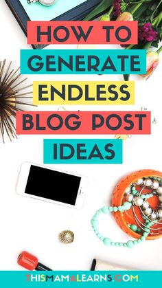 Blogging Tips || Blog Post Ideas || Blog Content Ideas || Stuck for blog post ideas? Here are 21 awesome ways to generate more (and better) ideas. You'll never run out again. via /thismamalearns/
