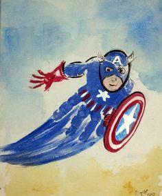 Capitan America con Impronta - Bambini creativi