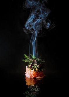 Smoked Veal Tatar with Lumpfish Caviar, Horserradish, Spunce and Watercress By Mads Refslund, Denmark