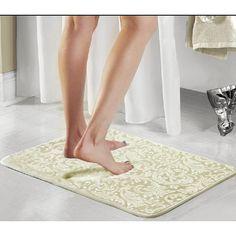Popular Bath Products Scroll 2 Piece Bath Rug Set Color: Sage