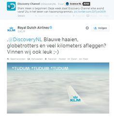 Inhaker KLM op Shark Week http://www.meulesteen.nl/altijd-up2date-met-de-laatste-inhakers/
