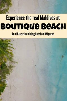 Step away from the flashy resorts and experience the real, authentic Maldives in simple luxury at Boutique Beach, Dhigurah.