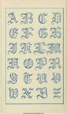 Free Easy Cross, Pattern Maker, PCStitch Charts + Free Historic Old Pattern Books: Fr - Sajou Alphabet Cursif, Caligraphy Alphabet, Tattoo Fonts Alphabet, Hand Lettering Alphabet, Calligraphy Letters, English Alphabet, Tattoo Lettering Styles, Graffiti Lettering Fonts, Lettering Design