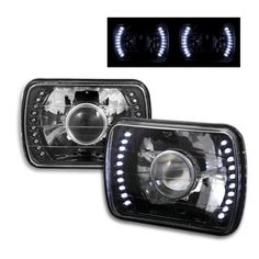 Jeep Cherokee 1979-2001 LED Black Sealed Beam Projector Headlight Conv