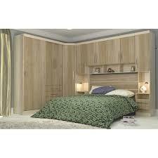 Resultado de imagem para Armario de quarto em L com cama casal