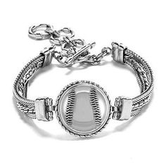 Baseball Bracelet Softball Bracelet Baseball by NSCJewels Bracelets Roses, Bff Bracelets, Owl Bracelet, Sister Bracelet, Sister Jewelry, Bangles, Volleyball Jewelry, Softball Bracelet, Baseball Jewelry