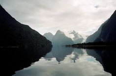 'The eighth wonder of the world' ~ according to Rudyard Kipling.  Milford Sound is a beautiful fjord in New Zealand where the Tasman Sea flows between 1200 ft. high peaks & is a refuge for wild animals & many different varieties of fish, as well as seals and dolphins.