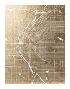 1944 denver street map vintage blueprint print poster house 2014 denver map available in a variety of frame and size options malvernweather Gallery
