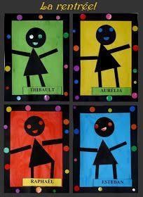 Formes et couleurs. Collage et bonhomme.