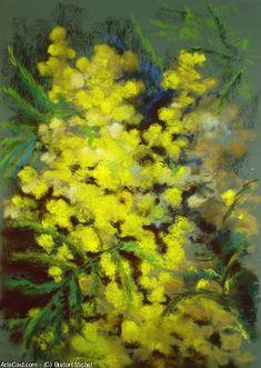 Breton Michel - Mimosa some bough Art Floral, Pastel Pencils, Pastel Paintings, Oil Painting Flowers, Painting Inspiration, Painted Rocks, Flower Art, Artwork, Artists