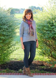 This plaid scarf from Glamour  Farms Boutique is going to be a favorite of mine this fall and winter.