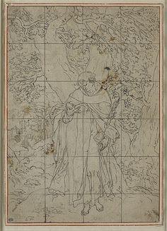 Inventaire du département des Arts graphiques - Saint Dominique debout et lisant - SPRANGER Bartholomaeus