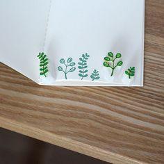 Leaf rubber stamp. Hand carved stamp. Set of 3 plants or choose. Handmade stamp. Unmounted stamp. Cute stamp. Nature stamp.