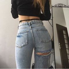 Best Jeans For Women Womens Cargo Trousers – bueatyk Basic Outfits, Trendy Outfits, Cute Outfits, Girl Fashion, Fashion Outfits, Womens Fashion, Best Jeans For Women, Jeans Women, Pantalon Cargo